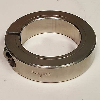 "Ruland One Piece Clamp Collar, 2"" Stainless Steel, CL-32-SS"