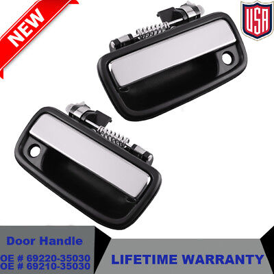 95-04 Toyota Tacoma Pickup Truck Front Outside Exterior Chrome Door Handle Set