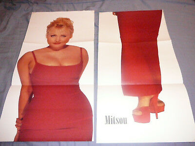 MITSOU 2 PIECES PIN UP POSTER PHOTO CLIPPING 11 x 45