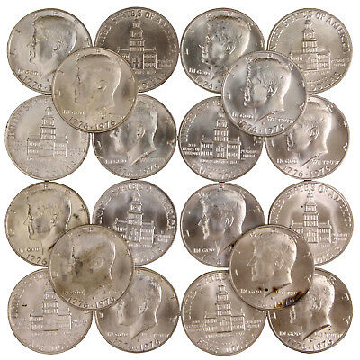 1976 S Kennedy Half Dollar Unc Roll 40% Silver With Problems Rejects 20 US Coins