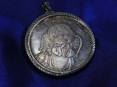 A Christmas Wish .999 Silver 1 Ounce Medallion With Bezel - Good Condition S