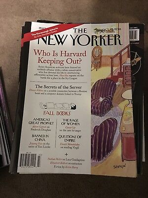The New Yorker Magazine October 15, 2018 Admissions WHO IS HARVARD KEEPING OUT?