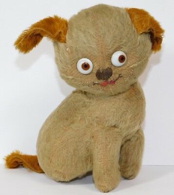RARE Antique 1915 Vintage Einco Mohair Tubby Character Dog Stuffed Toy