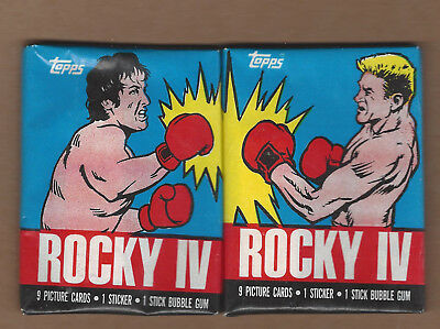 1985 Topps Rocky IV Wax Pack Both Variations Drago