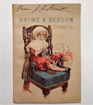 Antique Victorian Clark's O.N.T. Adv. Booklet Rhyme & Reason by Palmer Cox
