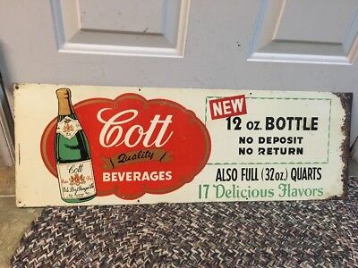 Rare Cott Beverage Soda Advertising Sign