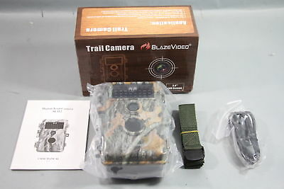 BlazeVideo Trail Camera 16MP 1080P Waterproof HuntingCam *NEW*