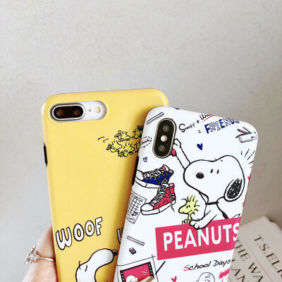 Cute Snoopy Cartoon TPU Silicone Phone Case Cover For iPhone 6 7 8 X XS Max XR