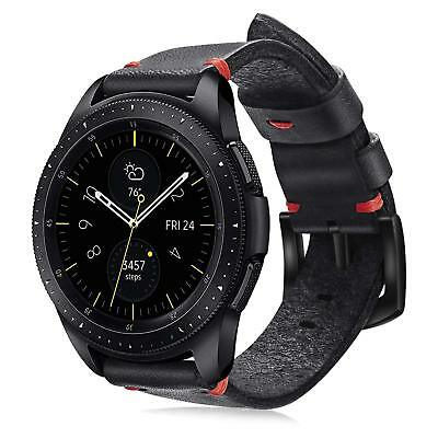 For Galaxy Watch 42mm / Gear Sport / Gear S2 Classic Band Genuine Leather Strap