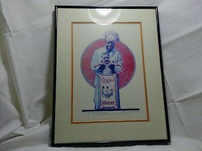 Vintage 1922 Framed Cream of Wheat Where Healthy Babies Come From