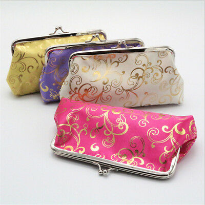 Women Lady Retro Purse Vintage Flower Small Wallet Hasp Card Holder Clutch Bag