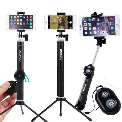 Extendable Selfie Stick Tripod Remote Bluetooth Shutter Fit For iPhone8 X Xs Max