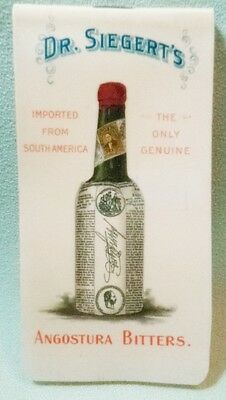 Dr Siegert's Angostura Bitters 1900 Celluloid Advertising Memo Pad