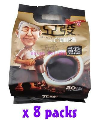 Ah Huat Malaysia Premix Instant 3 in 1 Premium Coffee O with sugar (20g x 160s )