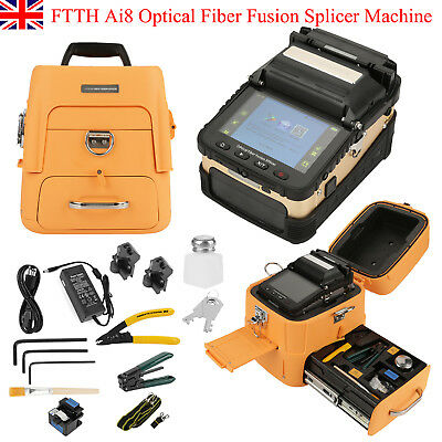 Ai8 Fiber Optic Welding Splicing Machine Optical Fiber Fusion Splicer AC100-240V