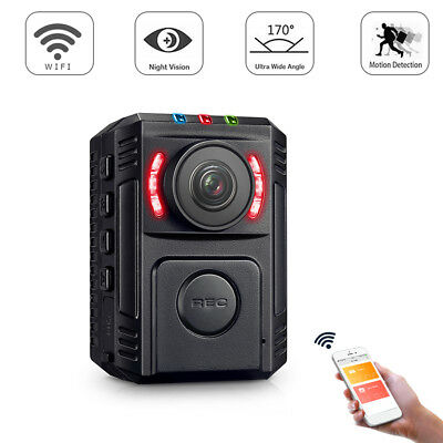 HD 1080P Body Personal Security Police Camera Night Vision 170° Wide Angle DVR