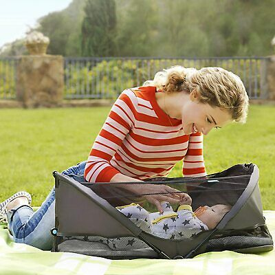 Regalo My Cot Extra Long Portable Bed, Gray, Includes Fitted Sheet Travel Case
