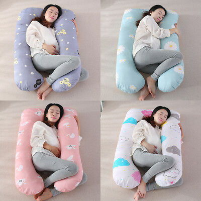 U Shaped Pillowcase Body Cotton Pillow Cover Pregnant Women Maternity Use