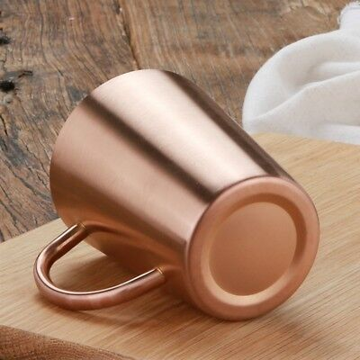 1pc 304 Stainless Steel Copper Plated Mug Cup Double Wall Large Coffee Beer Gold