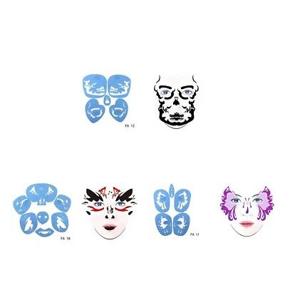Reusable Face Paint Stencils Airbrush Painting Party Makeup Tattoo Templates