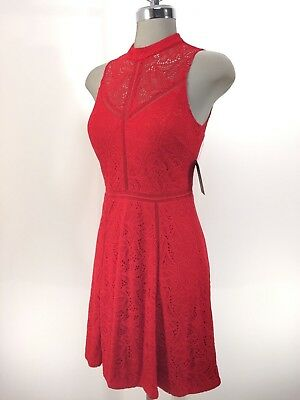 ROBE GUESS ROUGE A Pois Taille S EUR 25,00 | PicClick FR