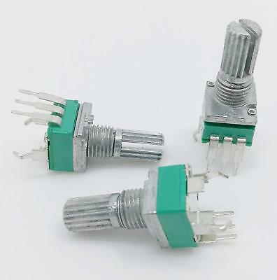Vertical PCB Mount 9mm Pot Linear Knurled Potentiometer 100k Alps Alpha Type