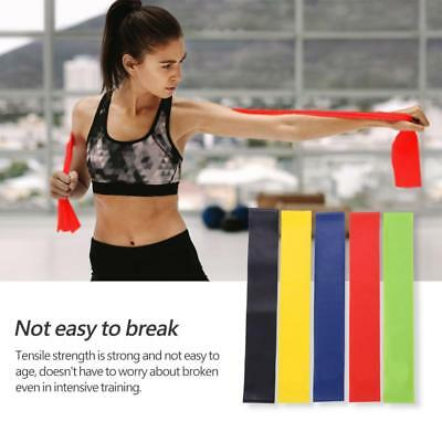 Set of 5 Resistance Exercise Loop Bands Home Gym Fitness Premium Natural Latex~