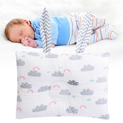 Breathable Cotton Baby Pillow Soft Cute Newborn Pillow Protection for Flat Head