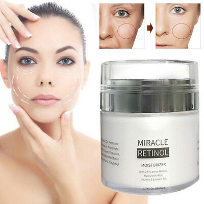 2.5% RETINOL VITAMIN A Anti Aging Wrinkle Acne Hyaluronic Acid Face Cream NT