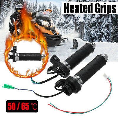 7/8'' 22mm Motorcycle Scooter Thermal Heated Handlebar Grips Hot Warm 50°-65°