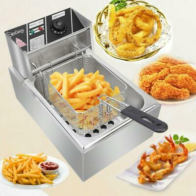 2500W 6L Electric Deep Fryer Commercial Countertop Basket French Fry Restaurant