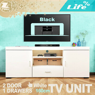 TV Stand Entertainment Side Cabinet Unit Storage Drawers 120cm