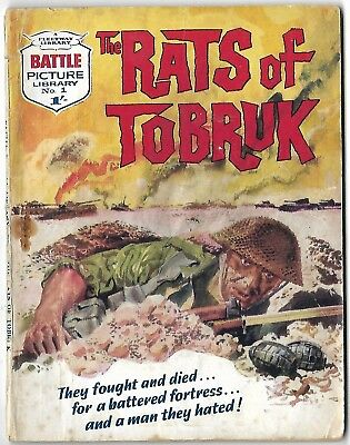 """Dated 1961 """"BATTLE"""" Picture Library War Comic NUMBER 1. """"The Rats of Tobruk"""". #1"""