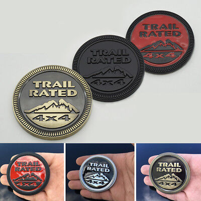 High Quality 3D Metal Trail Rated 4x4 Mountain Car Sticker Badge Off Road SUV