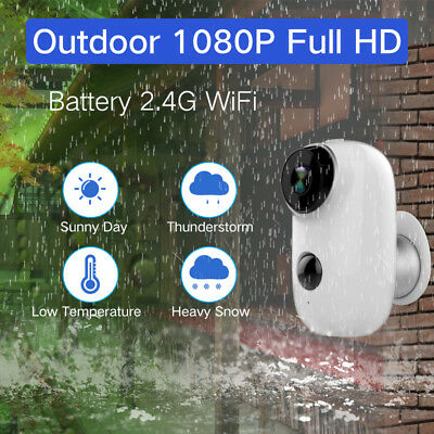 1080P HD Audio Security Camera Wireless WiFi Battery Operated IP Camera