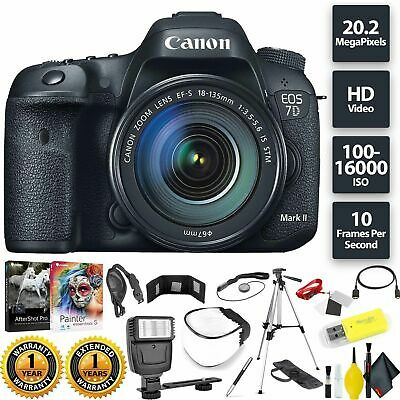 Canon EOS 7D Mark II DSLR Camera + 18-135mm f/3.5-5.6 STM Lens Base Combo