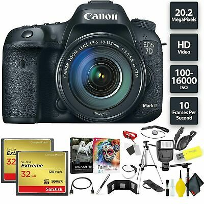Canon EOS 7D Mark II DSLR Camera + 18-135mm f/3.5-5.6 STM Lens Bundle0225