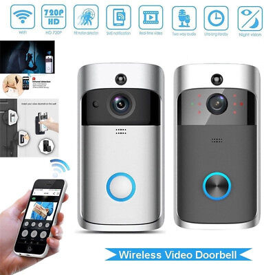 Smart Wireless WiFi Doorbell IR Video Camera Intercom Record Home Security Bell