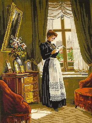 Royal Paris Large Cross Stitch Tapestry Picture Unframed Les Nouvelles By R Epp