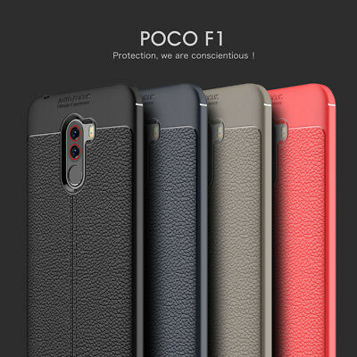 Shockproof Leather Soft Rubber TPU Case Cover For Xiaomi Pocophone F1 Poco F1