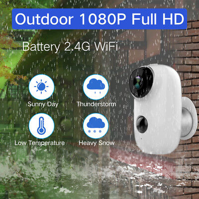 1080P HD Audio Security Camera Wireless WiFi Battery Operated Bullet  IP Camera