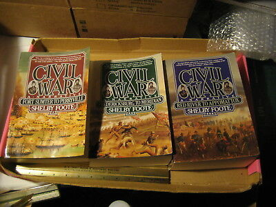 The Civil War A Narrative 3 Volumes PB by Shelby Foote #1