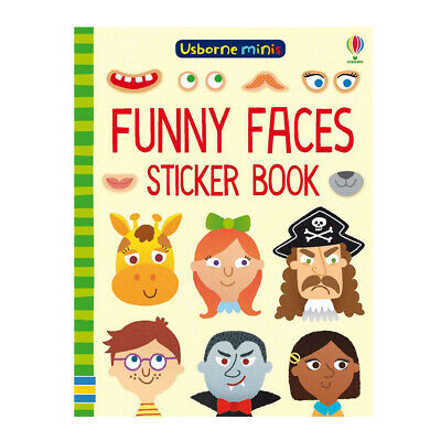 Kids Sticker Activity Book - Funny Faces by Usborne