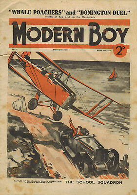 MODERN BOY COMIC No. 27 from 1938 - Biggles story