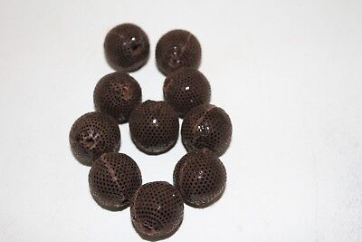 10 Leather beads, Dark brown, large size, (22 mm),   b1088