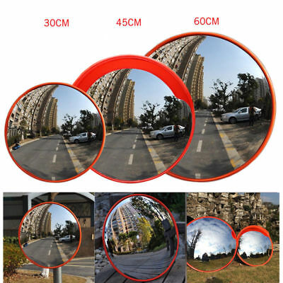 45cm Wide Angle Security Curved Convex Road Mirror Traffic Signal Roadway US
