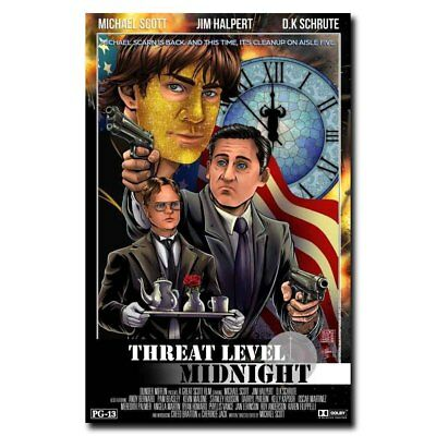 Threat Level Midnight 12x18inch Movie Silk Poster Wall Decoration Cool Gifts Hot