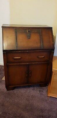 Antique Writing Bureau. Upcycle project. Used, collect only ng16