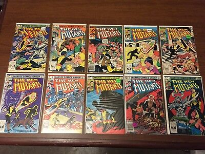 COLLECTOR'S Lot of NEW MUTANTS Comics by Marvel Nice Copper age X-Men! #1-10