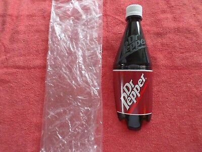 Dr. Pepper Plastic Bottle Shaped Wall Mount W/ Sticky Back For Hanging - Soda